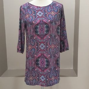 Forever 21 Multicolor Paisley Open Back Tunic
